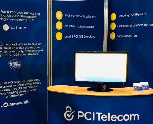Call & Contact Centre Expo PCI Telecom exhibition stand